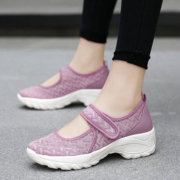 women's stylish fashion summer breathable non-slip elastic light leisure shoes