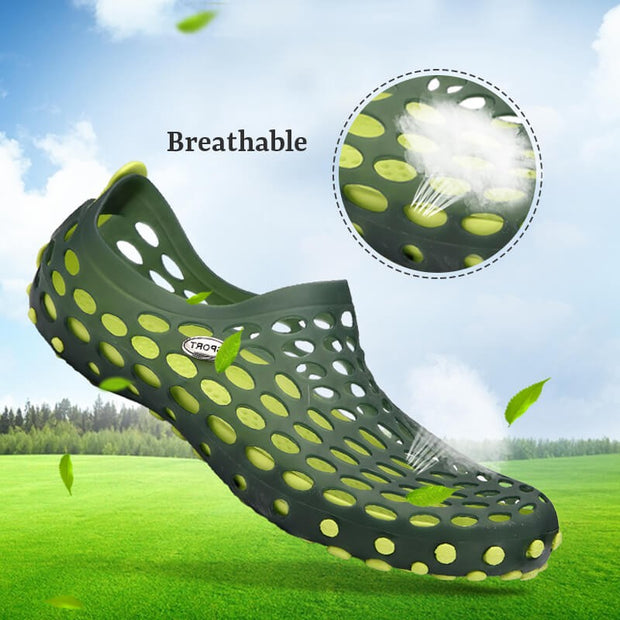 SUMMER breathable lightweight flat beach waterproof casual shoes