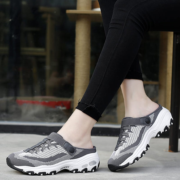 Women's summertime breathable comfortable slip-on casual shoes