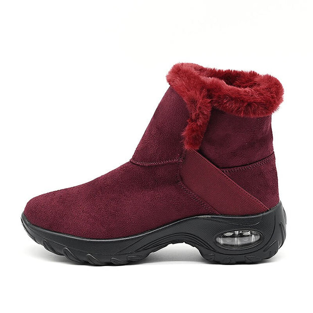 Women's winter thermal comfortable villi casual slip-on high top shoes