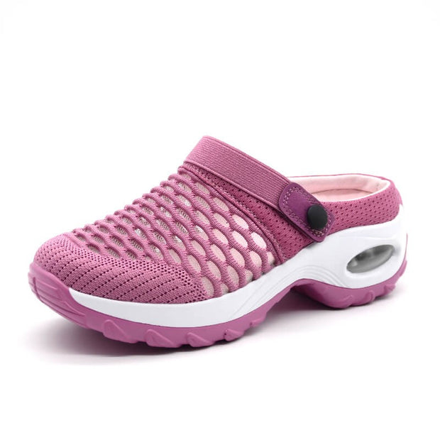 breathable comfortable air cushion elastic flat slip-on shoes
