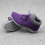 winter thermal plush non-slip flat comfortable mid-high shoes