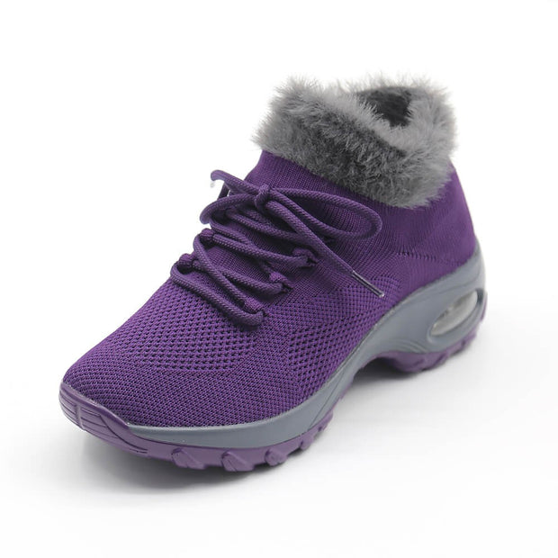 Women's Flying Woven Warm Non-slip  Breathable Comfortable shoe CL