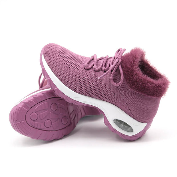 Women's Flying Woven Warm Non-slip  Breathable Comfortable shoe