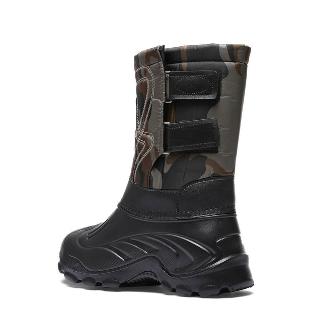 winter thermal leather comfortable slip-on boots