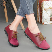 women's leather fashion stylish slip-on casual shoes