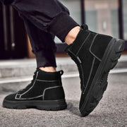 men's suede leather quality stylish trendy platform non-slip shoes