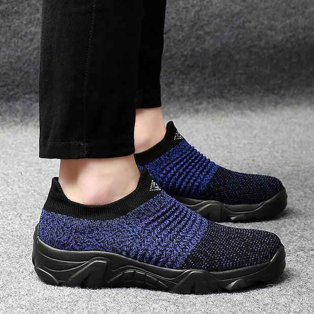 Men's elastic comfortable slip-on lightweight casual shoes