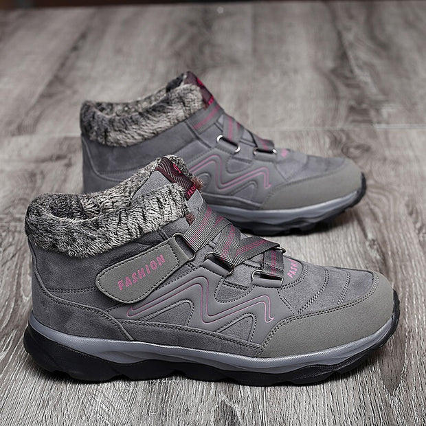 Women's winter thermal villi non-slip comfortable stable outdoor shoes rubber