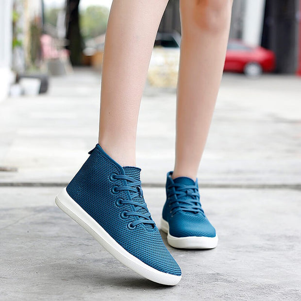 women's casual fashion flat breathable comfortable high top shoes