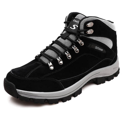 men winter thermal villi outdoor non-slip hiking high top shoes