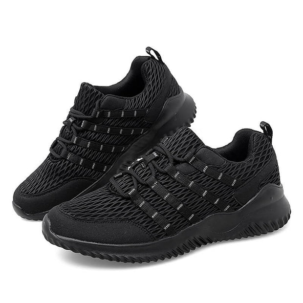 Men's breathable in style mesh fabric stretchy running jogging casual shoes