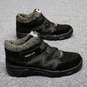 Man's winter thermal velvet velcro buckle trendy joker hiking sneakers