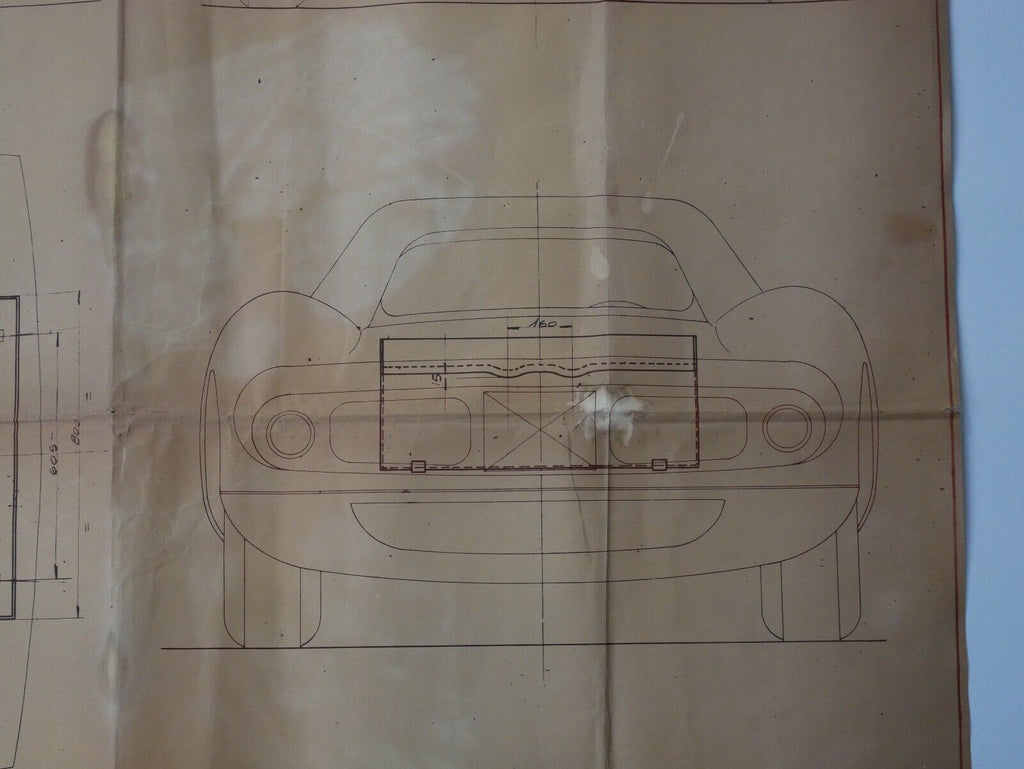 Ferrari 250 LM Factory Blueprint