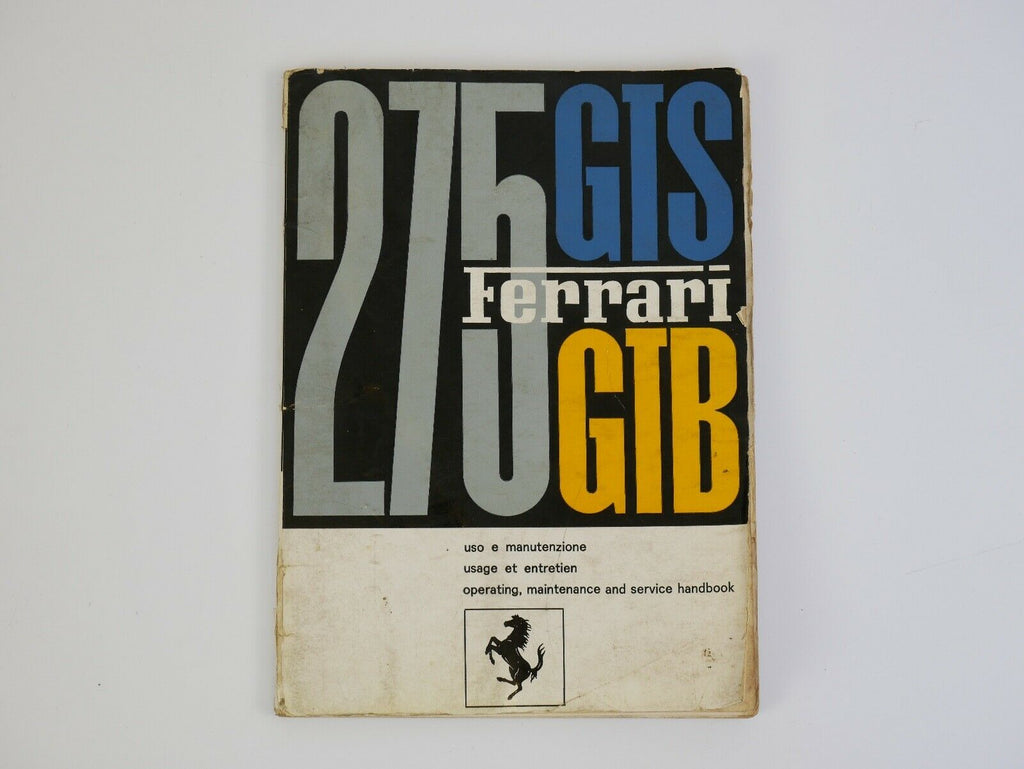 Ferrari 275 Owner's Manual Handbook