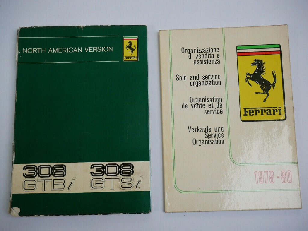 Ferrari 308 GTS Owner's Manual Pouch
