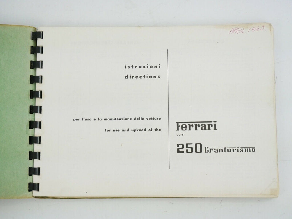 ferrari 250 chinetti manual