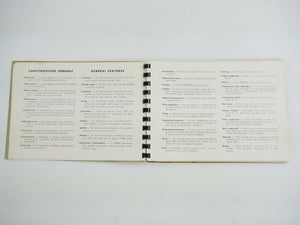 1959-60 Ferrari 250 GT Chinetti Owner's Manual Parts Book