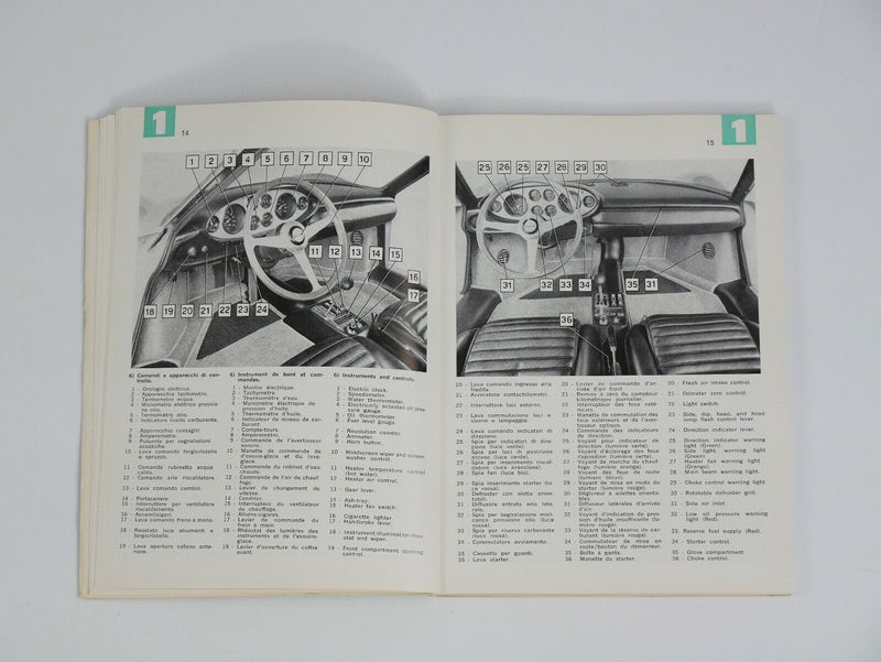 Ferrari 246 Dino L Series Owner's Manual Handbook