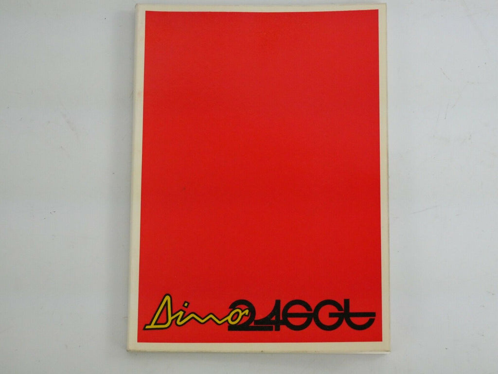 1972-74 Ferrari 246 Dino Owner's Manual Handbook