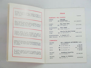1973 Ferrari Dealer Directory Manual 365 Daytona 246 Dino