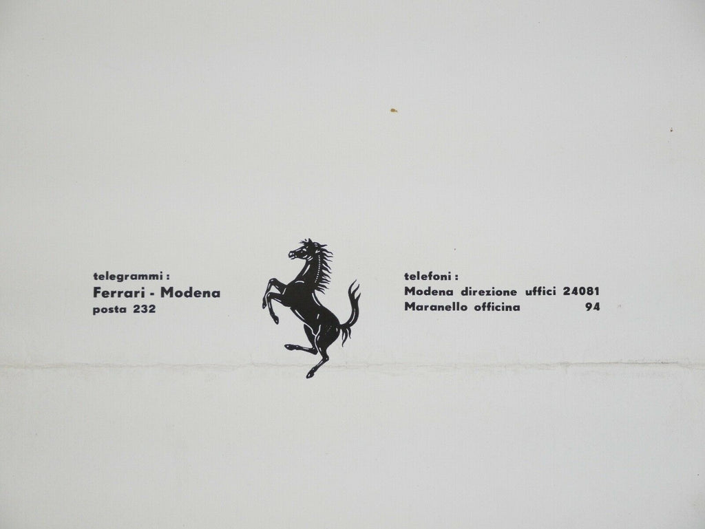 1954-55 Ferrari 750 Monza Homologation Papers Brochure