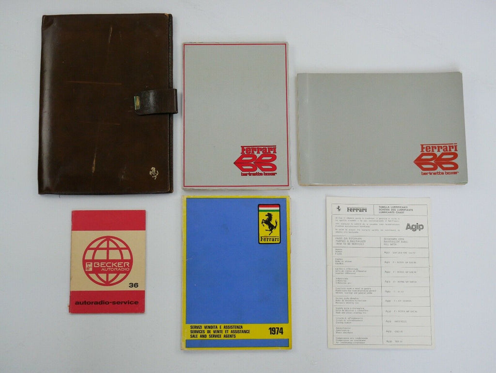 Ferrari 365 BB Complete Manual Pouch