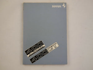 1977 Ferrari 400 GT Owner's Handbook Manual