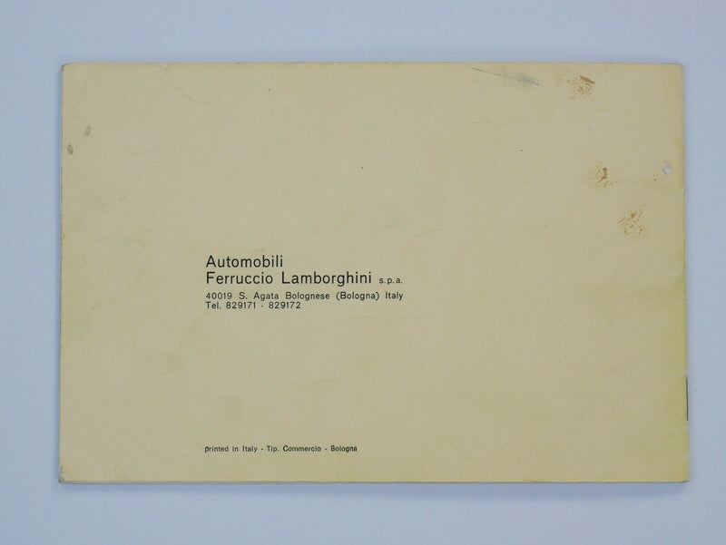 Lamborghini Islero 400 GT Owner's Manual