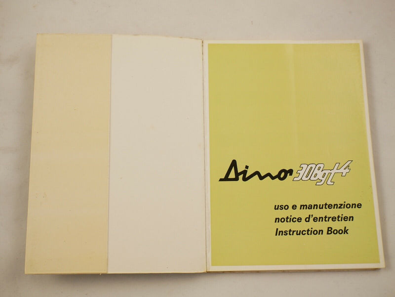 1975 Ferrari 308 GT4 Dino Owner's Manual Pouch Set