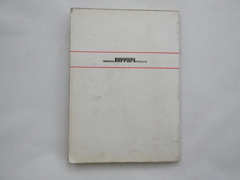 1970 Ferrari 365 GTB/4 Daytona Owner's Manual