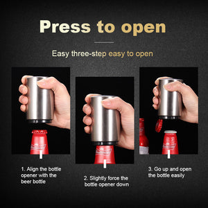 Automatic Stainless Steel Bottle Opener - mftale