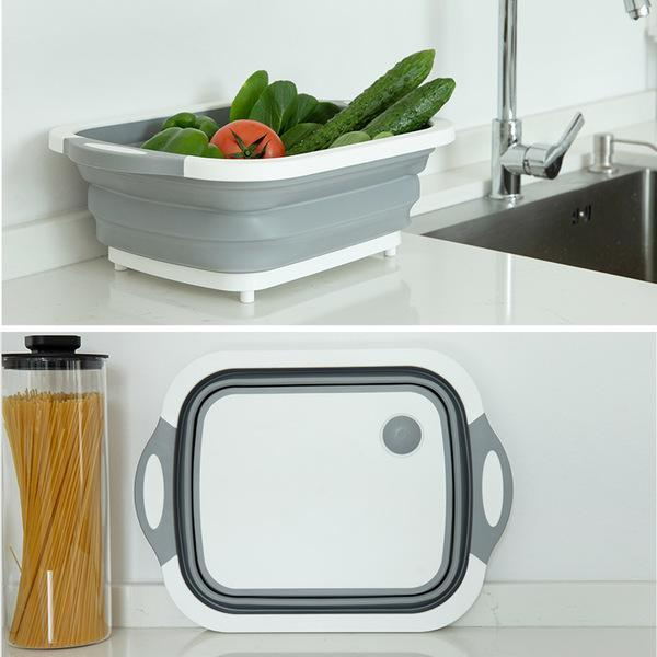 Collapsible Multi-Purpose Basket Waterlogged Basket Cutting Board - mftale