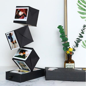 Surprise Black Bounce Gift Box DIY Handmade Photo Album - mftale