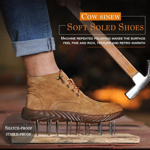 Puncture-proof & Antisquashy Soft Soled Shoes with Cow Sinew - mftale