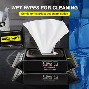 Quick White Shoe Wipes - mftale