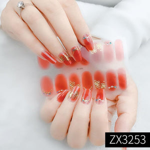3D Waterproof DIY Manicure Nail Sticker (14pcs)