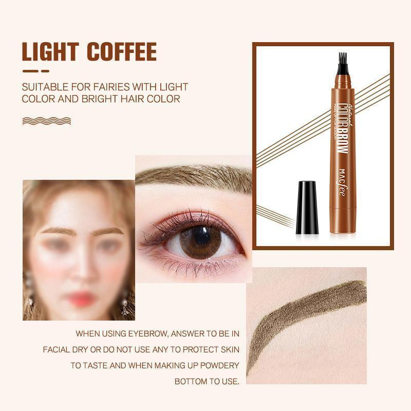 ( 60% OFF  ) 4 Points Eyebrown Pen