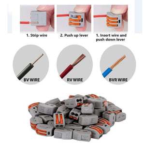 PCT-212 Terminal Block Wire Push Cable Connector(10 pcs/20pcs) - mftale