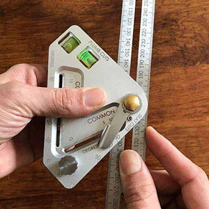 Multi-Functional Woodworking Ruler, Square Ruler, Level Ruler, Triangle Ruler - mftale