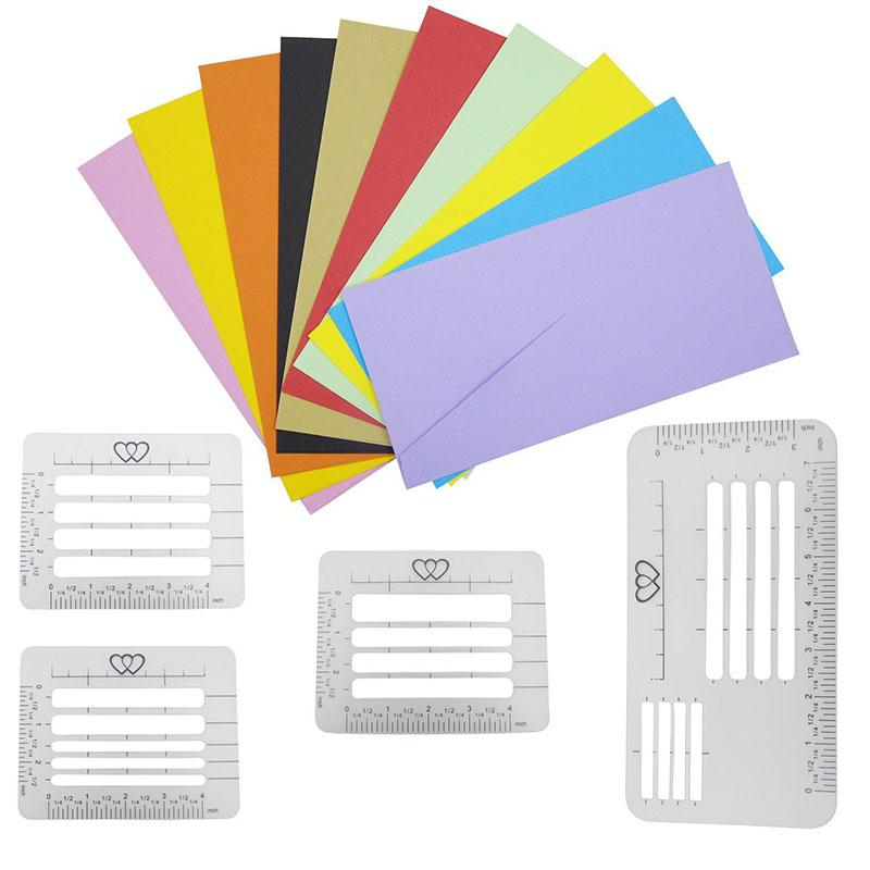 4pcs 4 Style Envelope Addressing Guide Stencil - mftale