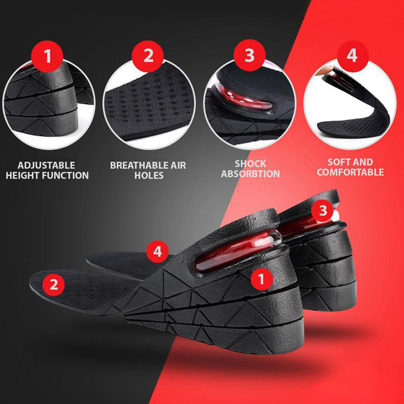 Adjustable Invisible  Heightening Insoles ( Freely Cropped Size ) - mftale