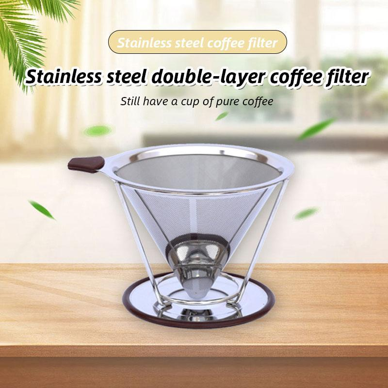 Stainless steel double-layer coffee filter - mftale