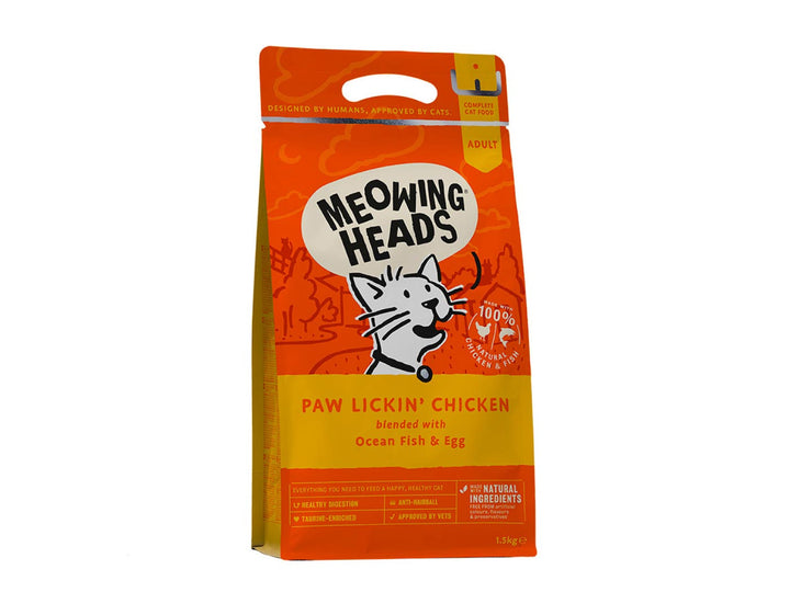 20% OFF ⏰ MEOWING HEADS<br>Paw Lickin' Chicken<br>Dry Cat Food