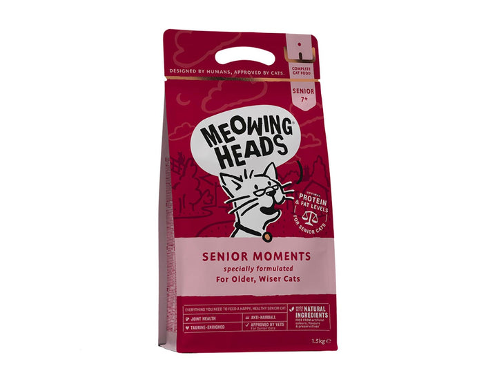 20% OFF ⏰ MEOWING HEADS<br>GRAIN FREE Senior Moments<br>Dry Cat Food