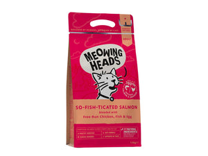 20% OFF ⏰ MEOWING HEADS<br>So-Fish-Ticated Salmon<br>Dry Cat Food