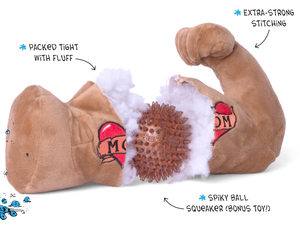 BARK<br>Mr. Chewniverse's Muscles<br>Dog Plush Toy