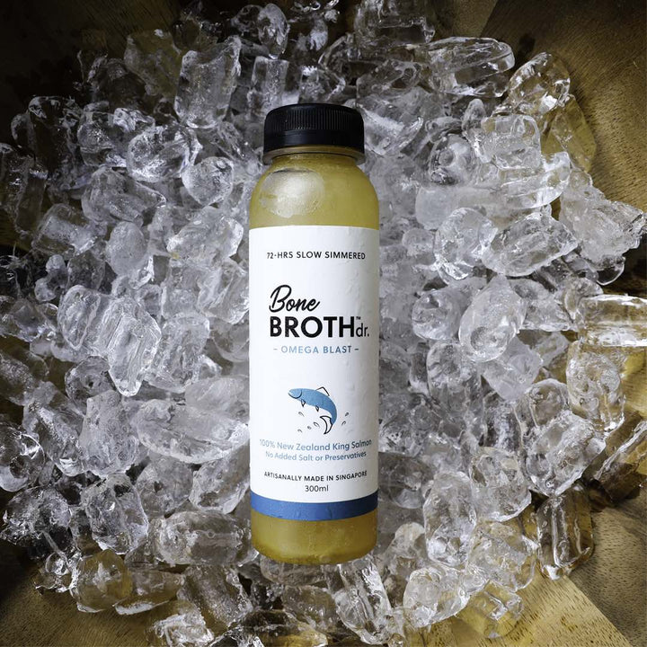 BONE BROTH DR.<br>NZ King Salmon<br>Omega Blast Dog/Cat Frozen Broth<br>⭐️ 10 FOR $115 ⭐️