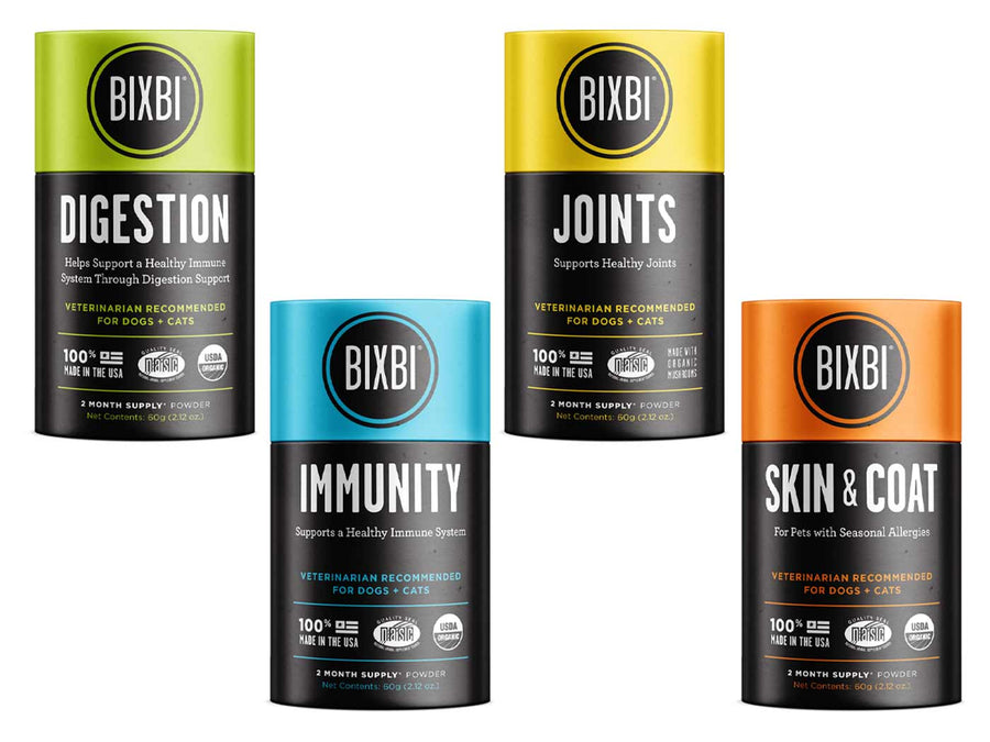 15% LAUNCH ⏰ BIXBI<br>Organic Mushroom<br>Digestion/Immunity/Joints/Skin & Coat<br>Dog/Cat Supplements