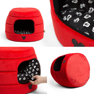 SENTIMENTS<br>Disney Mickey Mouse Red Jumbo<br>2-Way Honeycomb Hut Pet Bed